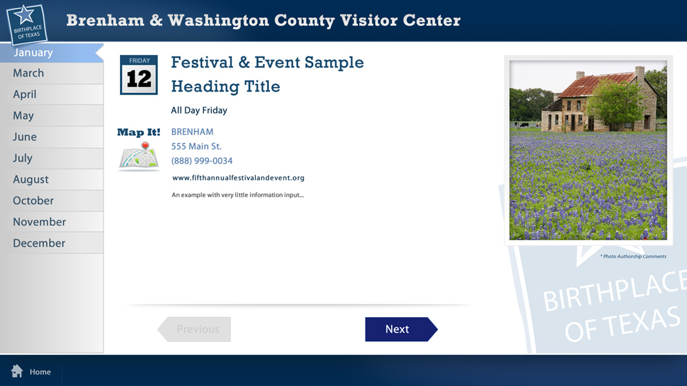 To provide an engaging experience around the key things to see and do in Washington County, HexaGroup was selected to develop an interactive exhibit for the local Visitors Center. Expertise in museum exhibits and interactive technology made HexaGroup a logical choice.